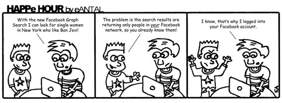 HAPPe HOUR Digital Marketing Comic Strip for January 18, 2013