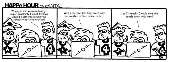 HAPPe HOUR Digital Marketing Comic Strip for February 1, 2013