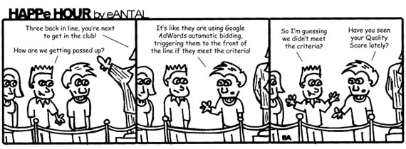 HAPPe HOUR Digital Marketing Comic Strip for March 8, 2013