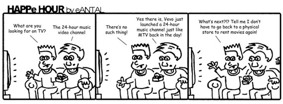 HAPPe HOUR Digital Marketing Comic Strip for March 14, 2013