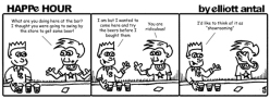 HAPPe HOUR Digital Marketing Comic Strip for April 12, 2013
