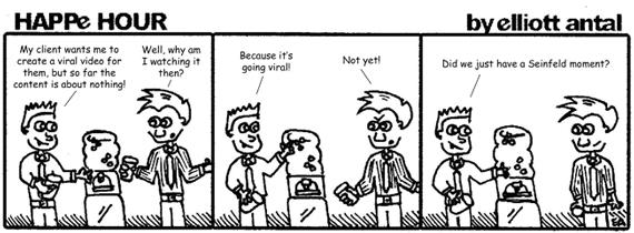 HAPPe HOUR Digital Marketing Comic Strip for June 28, 2013